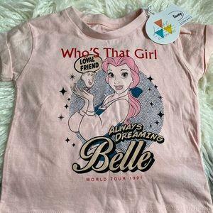 Little Eleven Paris Disney Belle T Shirt NWT